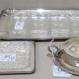 Portaperitivo in argento e cristallo