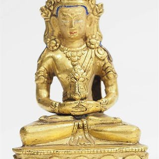 "Buddha Amitabha"" mit Krone."