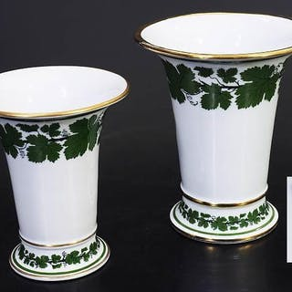 Zwei Vasen. MEISSEN 1924 - 1934, 1. Wahl.