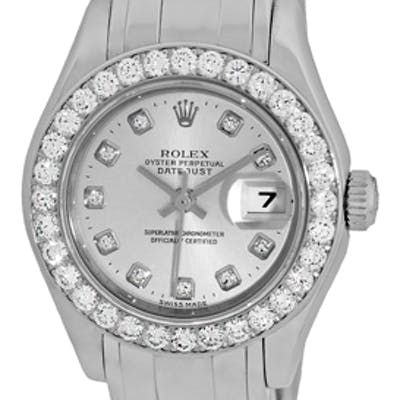 """Certified Pre-Owned Lady's 18K White Gold Rolex Diamond """"Masterpiece"""""""