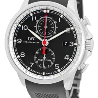 """Gent's Stainless Steel IWC """"Portuguese Yacht Club"""" Chronograph Strapwatch"""
