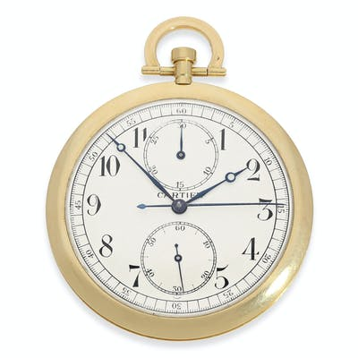 Pocket watch: Cartier rarity, especially large, extra flat Cartier