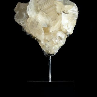 Mounted large Yellow Calcite