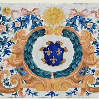 ANTEPENDIUM WITH FRANCE COAT OF ARMS