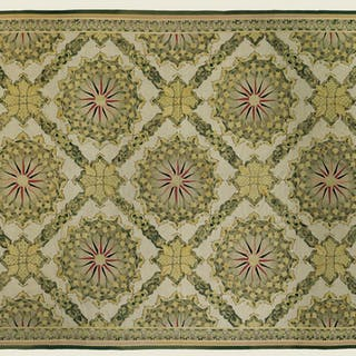 AUBUSSON CARPET WITH COMPASS ROSE DESIGN