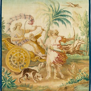 "THREE TAPESTRIES FROM THE SERIES ""STORY OF DIANA"""