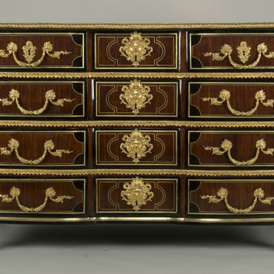 Louis XV Commode Stamped by Leonard Boudin