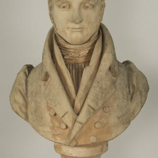 Bust of an aristocrat by Cadet de Beaupré (1758-1823)