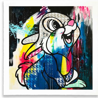 """Ben Allen - Serigrafía - Impresión Glicée """"Money Rabbit"""""""