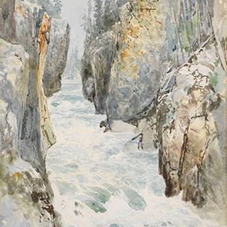 River Through the Rocks - Frederic Marlett Bell-Smith