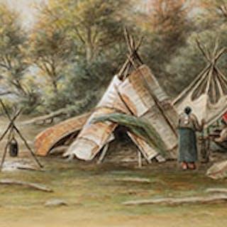 Indian Encampment - Frederick Arthur Verner