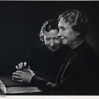 Helen Keller with Polly Thompson - Yousuf Karsh