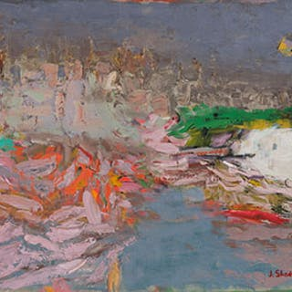 On a Violet Ground (Val du Var) - Jack Leonard Shadbolt