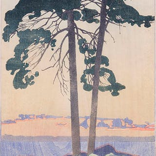 A Muskoka Sunset - Walter Joseph (W.J.) Phillips
