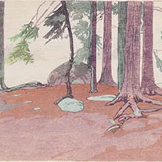 Rain, Lake of the Woods - Walter Joseph (W.J.) Phillips
