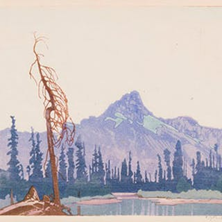 Mount Cathedral from Lake O'Hara, BC - Walter Joseph (W.J.) Phillips