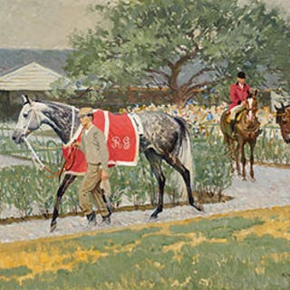 Queen's Plate in Woodbine Paddock (6th Race, All View) - Robert Elmer Lougheed