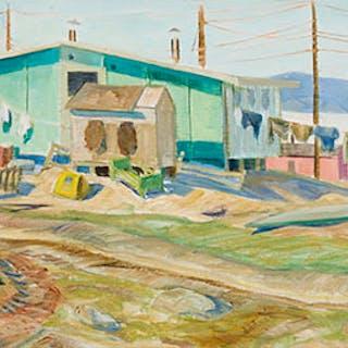Village of Pond Inlet, NWT (on Baffin Island) - Doris Jean McCarthy