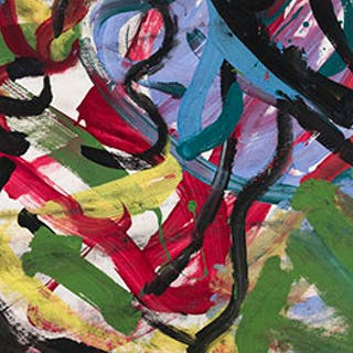 Untitled / Abstract (verso) - Francine Simonin