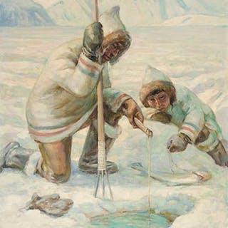 Nanook & Son, Baffin Island - Adam Sherriff Scott