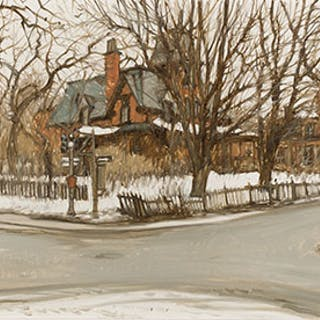 Victorian House at Côte St. Antoine and Victoria, Westmount, PQ -