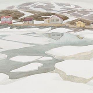 The Harbour with Open Water - Doris Jean McCarthy