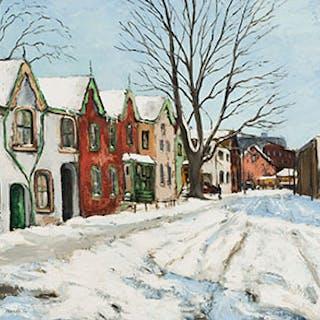 Heavy Snow - Berryman Street - Albert Jacques Franck