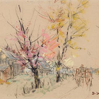 Blossoming Trees in the Countryside - Berthe Des Clayes