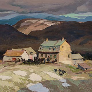Sunday Afternoon, Early Spring, Baie St-Paul Country - George Franklin Arbuckle