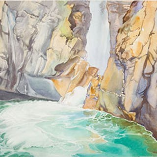 The Pool at Johnson's Canyon - Walter Joseph (W.J.) Phillips