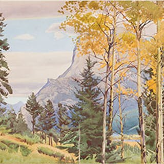 Mount Rundle, Fall - The Bow Valley - Walter Joseph (W.J.) Phillips