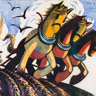 Tillers of the Soil - Sybil Andrews
