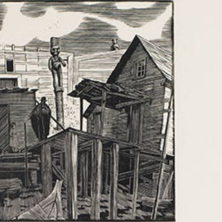Shacks on the Beach, Karlukwees - Walter Joseph (W.J.) Phillips