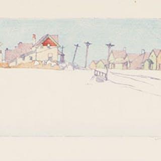 A Suburban Street - Walter Joseph (W.J.) Phillips