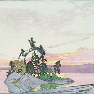 Sunset, Lake of the Woods - Walter Joseph (W.J.) Phillips