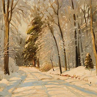 Snow Covered Lane - Frank Shirley Panabaker