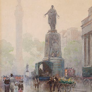 Waterloo Place, Guards Monument, London - Frederic Marlett Bell-Smith