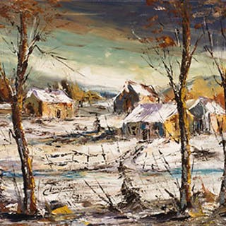 Winter Landscape - Claude Langevin