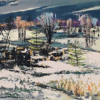 March Mood, Templeton, Quebec - Henri Leopold Masson