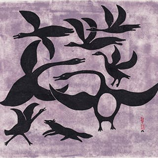 Geese Frightened by a Fox - Kenojuak Ashevak