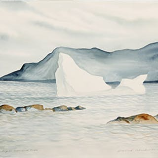 Stranded Berg in Greenspond Tickle - David Lloyd Blackwood