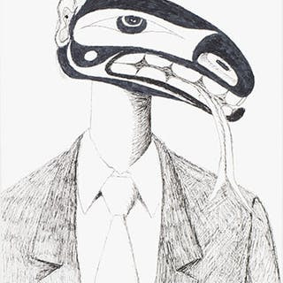 Figure in Suit - Lawrence Paul Yuxweluptun