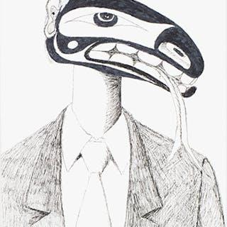 Figure in Suit - Lawrence Paul Yuxweluptun