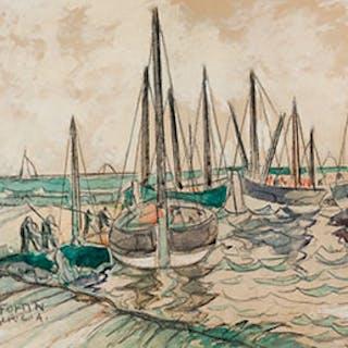 Harbour Scene - Marc-Aurèle Fortin