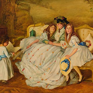 Story Time for the Three Daughters - Henri Beau