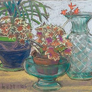 Red Flowers in Bloom - Joseph Francis (Joe) Plaskett