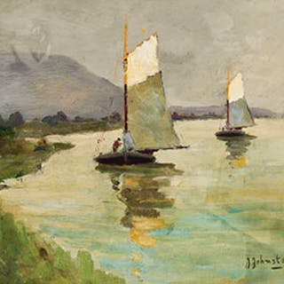Sailing on the River - John Young Johnstone