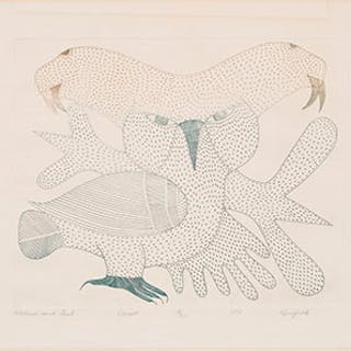 Walrus and Owl - Kenojuak Ashevak