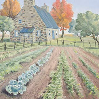 Vegetable Garden, Autumn - Gordon Edward Pfeiffer