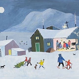 Yukon Nativity - Ted Harrison